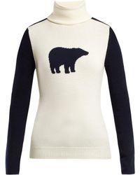 Perfect Moment - Bear Roll Neck Wool Jumper - Lyst