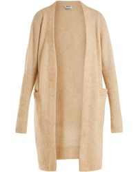 Acne | Raya Brushed-knit Cardigan | Lyst