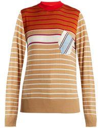 Marni - Striped Wool-blend Sweater - Lyst