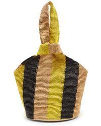 Sensi Studio - Striped Toquilla-straw Tote - Lyst