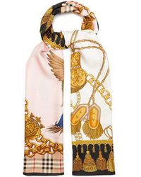 Burberry - Archive-print Silk Scarf - Lyst