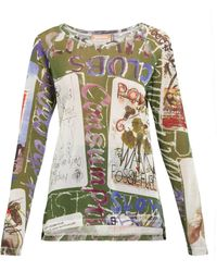 Vivienne Westwood - Playing Cards Cotton Blend Mesh T Shirt - Lyst
