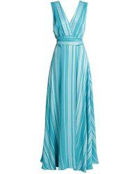 Zeus+Dione - Isidora Embroidered Silk-blend Maxi Dress - Lyst