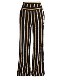 Ace & Jig - Dancin Striped Textured-cotton Wide-leg Trousers - Lyst