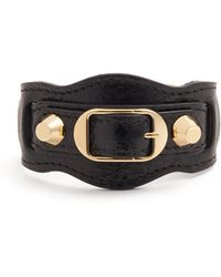 Balenciaga | Classic Metallic Edge Leather Bracelet | Lyst
