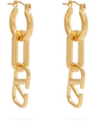 Valentino - Logo And Chainlink Earrings - Lyst
