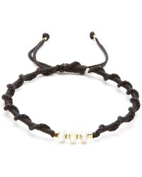 Black Dakini - Sterling-silver And Cord Bracelet - Lyst
