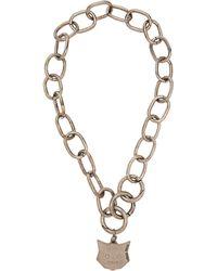 Miu Miu - Cat Pendant Chain Necklace - Lyst