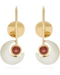 Ara Vartanian | X Kate Moss Garnet & Gold Earrings | Lyst