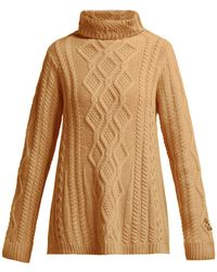 Queene And Belle - Hester Cable Knit Cashmere Roll Neck Sweater - Lyst