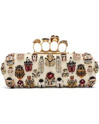Alexander McQueen - Beetle Embellished Four-ring Clutch - Lyst