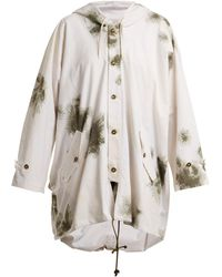 MYAR - Oversized Brushstroke Print Cotton Hooded Jacket - Lyst