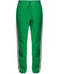 MSGM - Pantalon de jogging en coton à logo imprimé - Lyst