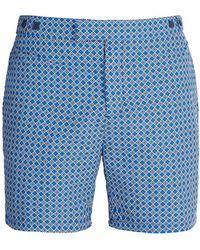 Frescobol Carioca - Tailored Angra-print Swim Shorts - Lyst