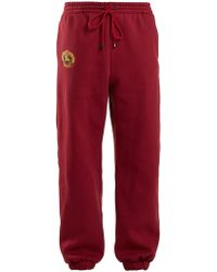Burberry - Logo Embroidered Drawstring Waist Track Pants - Lyst