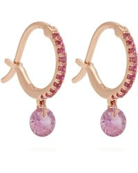 Raphaele Canot - Set Free Sapphire & Rose-gold Earrings - Lyst