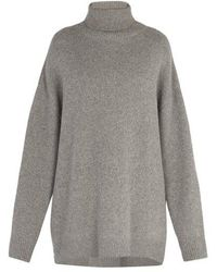 Raey - Displaced Sleeve Roll Neck Wool Jumper - Lyst