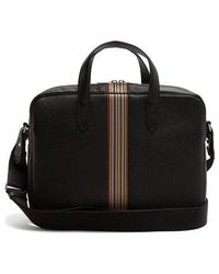 Paul Smith - - Signature Stripe Leather Weekend Bag - Mens - Black - Lyst
