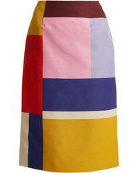Mary Katrantzou - Jupe crayon colour-block Sigma Ottoman - Lyst