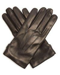 Lanvin - Topstitched Soft-leather Gloves - Lyst