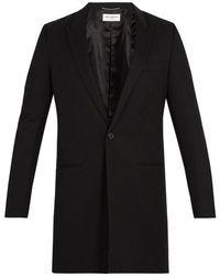 Saint Laurent - Single-breasted Wool Coat - Lyst