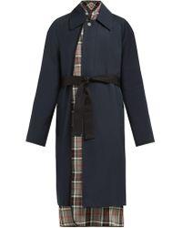 Balenciaga - Layered Cotton Twill Trench Coat - Lyst