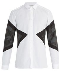 Neil Barrett - Camouflage Cotton Shirt - Lyst