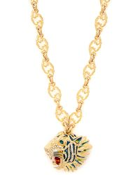 Gucci - Roaring Tiger Pendant Necklace - Lyst
