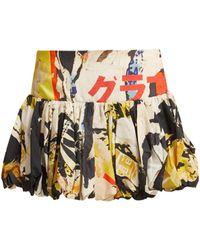 Marques'Almeida - Poster-print Cotton Mini Skirt - Lyst