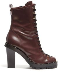 Valentino - Soul Rockstud Leather Ankle Boots - Lyst