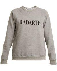 Rodarte - Sweat-shirt en coton mélangé à imprimé logo - Lyst