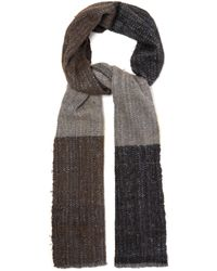 Denis Colomb - Ise Check Frayed Wool Blend Scarf - Lyst