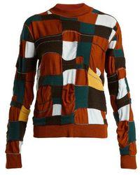 Marni - Patchwork Cotton-blend Sweater - Lyst
