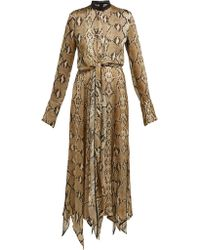 Petar Petrov - Dehli Python Print Silk Chiffon Dress - Lyst