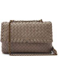 6a3b78bbfc9 Bottega Veneta - Baby Olimpia Intrecciato Leather Shoulder Bag - Lyst