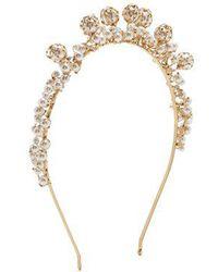 Rosantica By Michela Panero - Bouquet Pearl-embellished Headband - Lyst