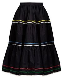 Anna October - Ric-rac Trimmed Cotton Skirt - Lyst