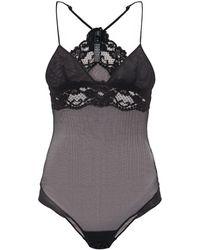 La Perla - Tres Souple Mesh And Lace Trimmed Bodysuit - Lyst
