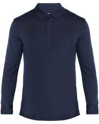 Orlebar Brown - Sebastian Merino Wool Long Sleeved Polo Shirt - Lyst