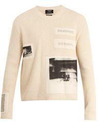 CALVIN KLEIN 205W39NYC - Little Electric Chair-print Ribbed Cotton Jumper - Lyst