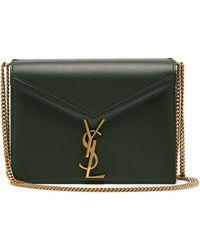 23e71a2b4c Saint Laurent Green Cassandra Monogramme Clasp Bag in Green - Lyst