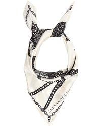 Alexander McQueen - Spider And Jewel-print Silk Scarf - Lyst