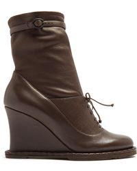 Bottega Veneta | Intrecciato-panel Leather Ankle Boots | Lyst