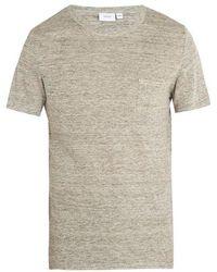 Onia - Chad Linen Blend Jersey T Shirt - Lyst