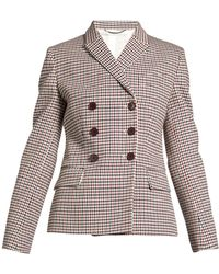 Stella McCartney - Olivia Double-breasted Checked Blazer - Lyst