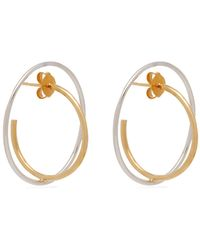 Charlotte Chesnais - Saturn 18kt Gold And Sterling Silver Earrings - Lyst