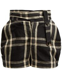 Vivienne Westwood - Checked Linen Shorts - Lyst
