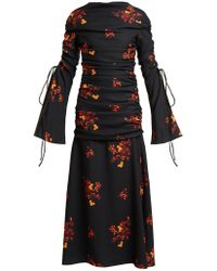 Ellery - Fitted Floral Dress - Lyst