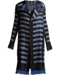Issey Miyake - Gleam Striped Pleated Coat - Lyst