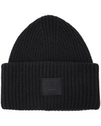 Acne Studios - Pansy S Face Wool Beanie Hat - Lyst